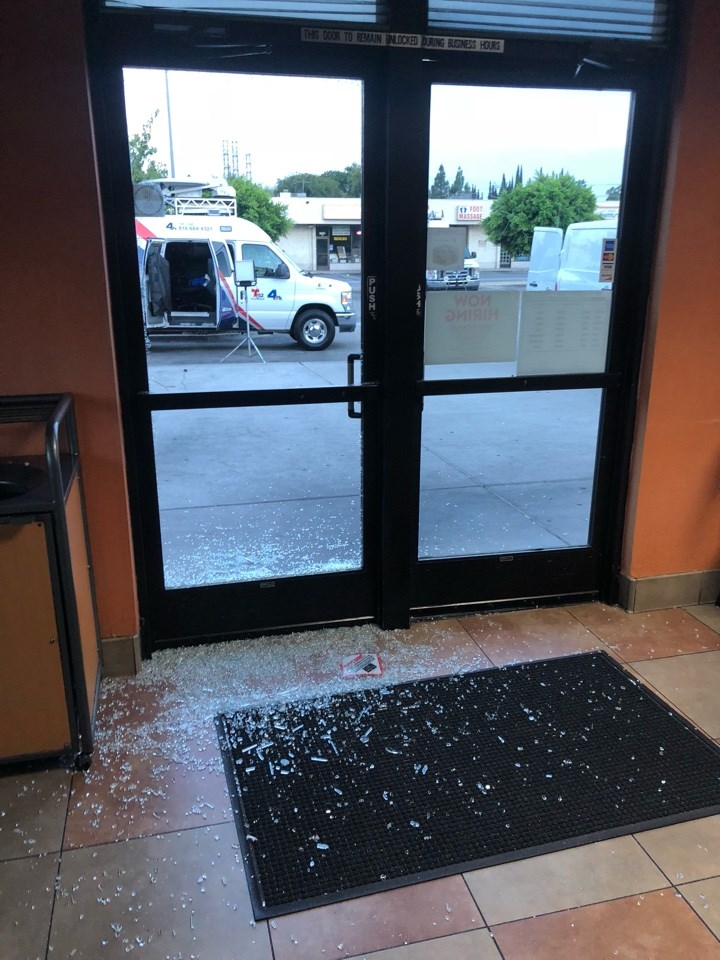 Break-in at a Lakewood Business. We were there right away to begin clean-up and board-up