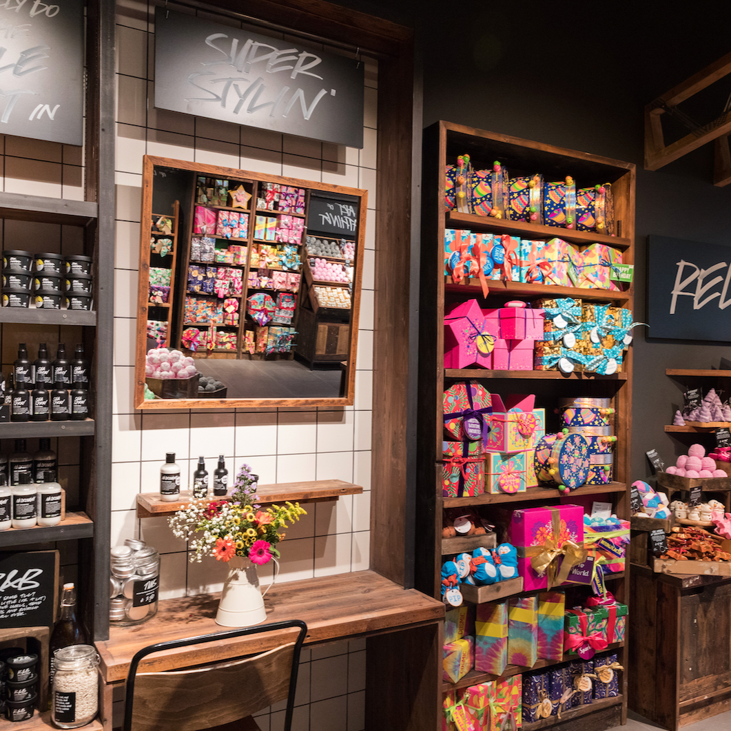 Haircare section on the shop-floor
