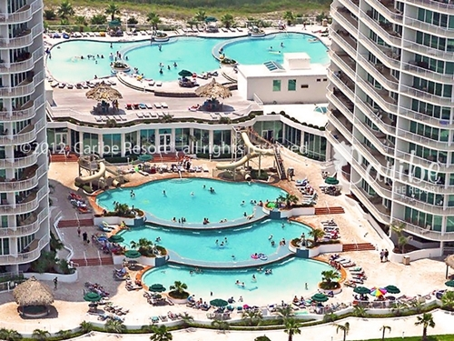 Caribe Resort has over 40,000 square feet of pools