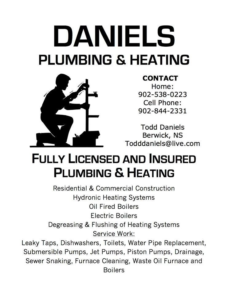 Daniel's Plumbing & Heating - Berwick, NS B0P 1E0 - (902)844-2331 | ShowMeLocal.com