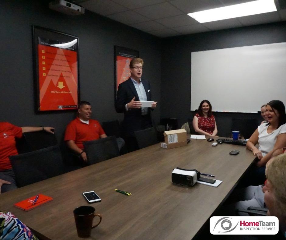 Team meeting. HomeTeam Inspection Service Louisville (502)785-8142