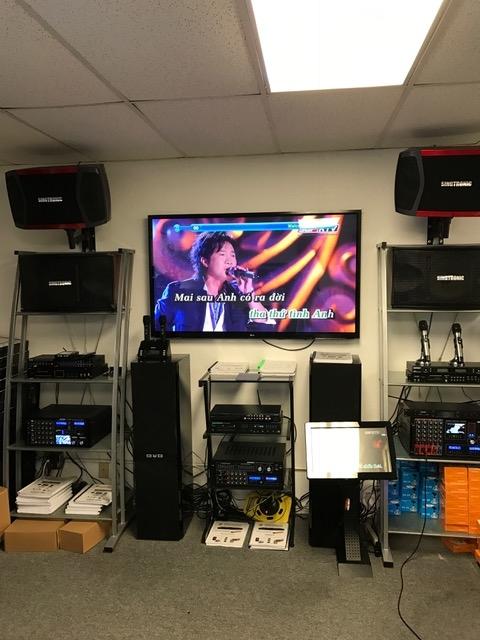 Inside Store Display Karaoke System Singtronic Garden Grove (714)719-2474