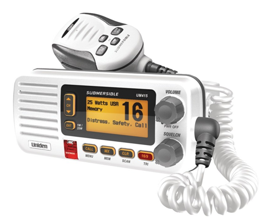 The Uniden UM380 and UM380BK full-feature fixed mount VHF marine radios are packed with the features you need. DSC position send and request keeps you connected
