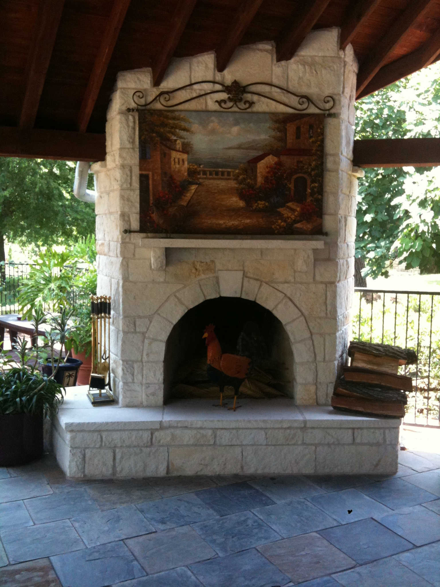 Image Result For Rock Outdoor Fireplaces