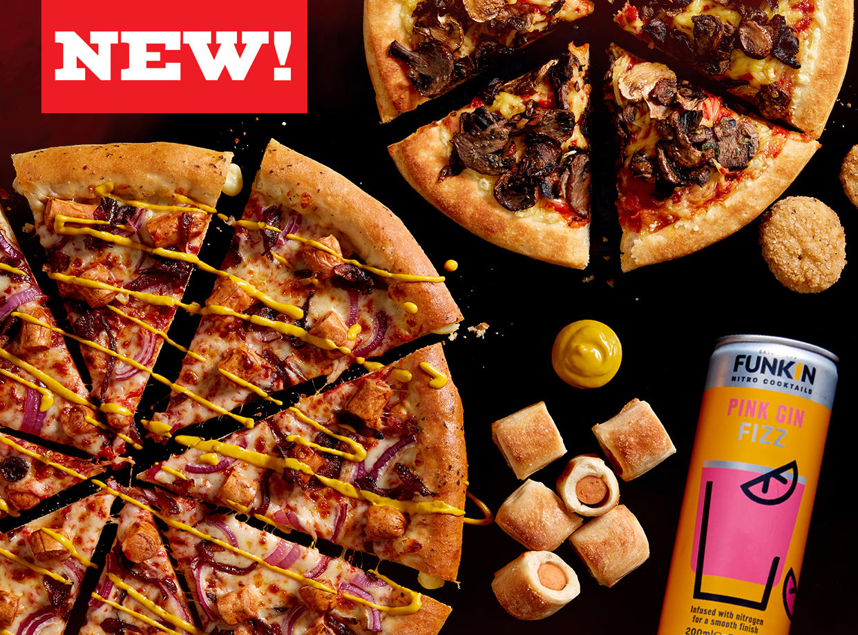 New Menu at Pizza Hut Restaurants - Hot Dog Pizza and new Vegan Menu! Pizza Hut Restaurants Wrexham 01978 353400