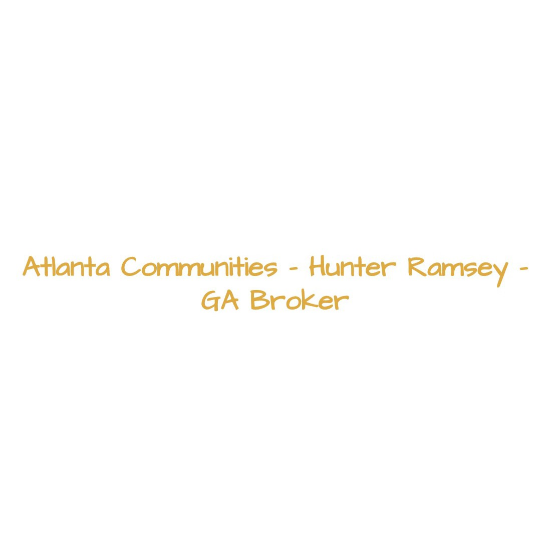 Hunter Ramsey - Realtor - Georgia Real Estate Broker - Woodstock, GA 30188 - (770)519-1897 | ShowMeLocal.com