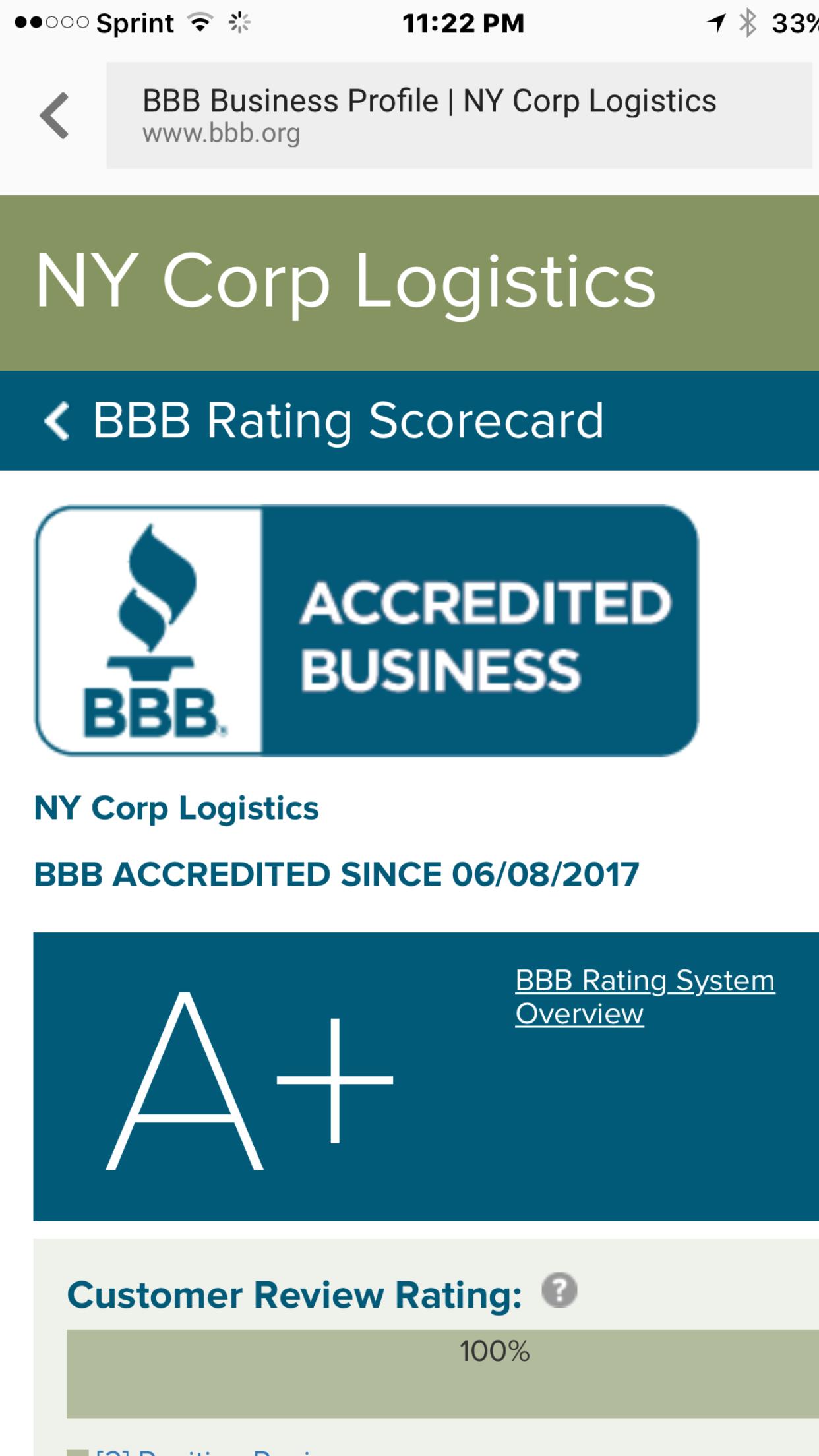 Better business bureau ny reviews