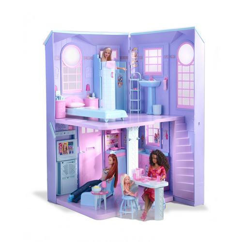 Barbie Talking Town House This model was from engineering direction to model and develop the folding features including tiled bathroom, sink, stairs and bed. All furniture was modeled and the set was developed with electronic features.