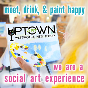 M eet, Drink and Pain t Happy. At Uptown Art our studios provide hands-on art instruction, paint supplies, canvases, aprons everything you need to have a great time and create your masterpiece.