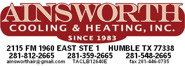 Ainsworth Cooling & Heating Inc. - Humble, TX - Heating & Air Conditioning