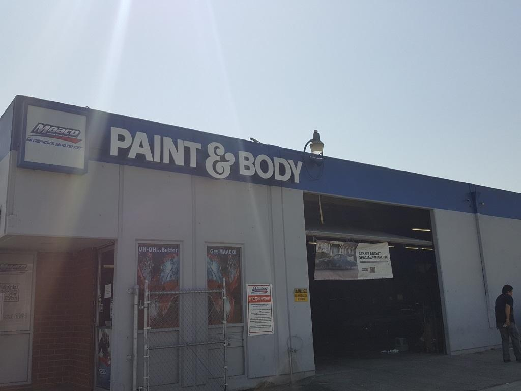 Maaco collision repair auto painting in downey ca 90241 for Maaco paint and body