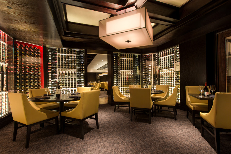Del Frisco's Grille Santa Monica Cellar group dining room