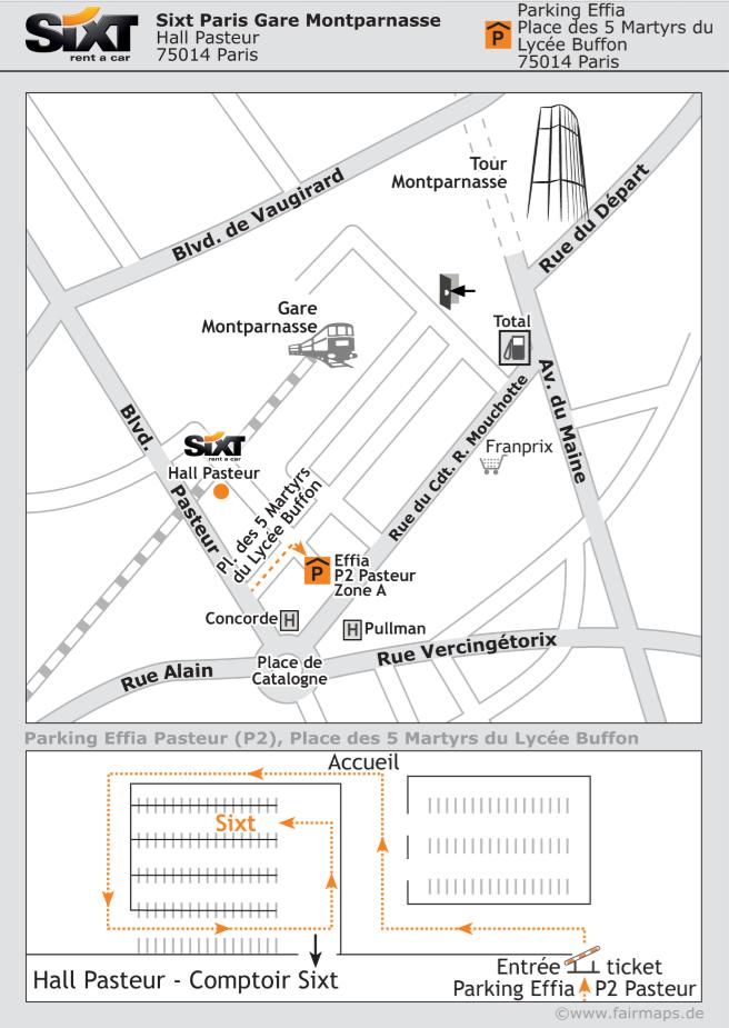 Sixt location de voiture Montparnasse