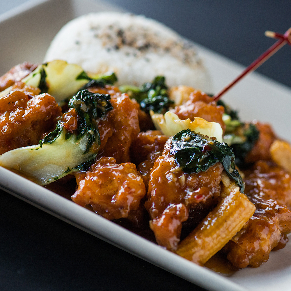 Looking for a meatless meal? We've got you covered with a variety of vegetarian options, like our Gardein® Orange Chicken.