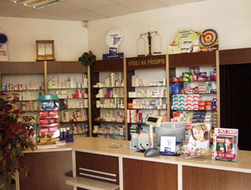 Lékárna u Bílé Labutě - Moskevská, Praha 10
