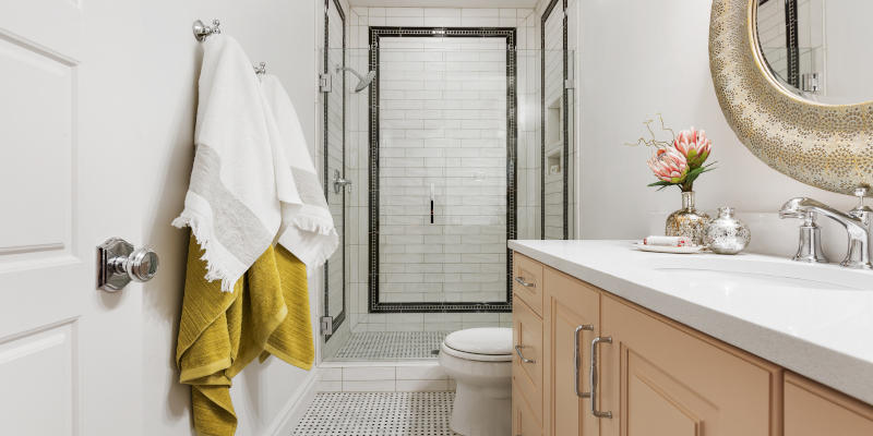 Make your bathroom a true oasis with custom cabinetry.