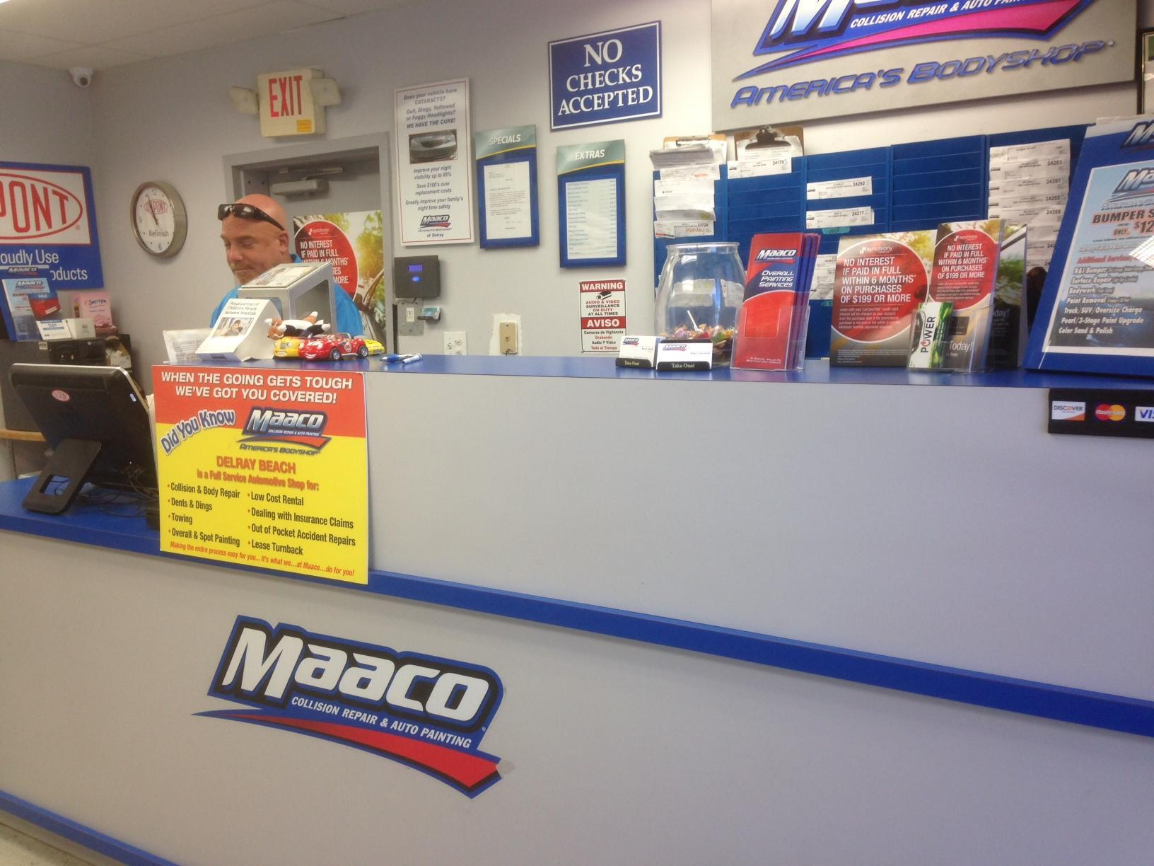 Maaco collision repair auto painting in delray beach fl for Maaco paint and body