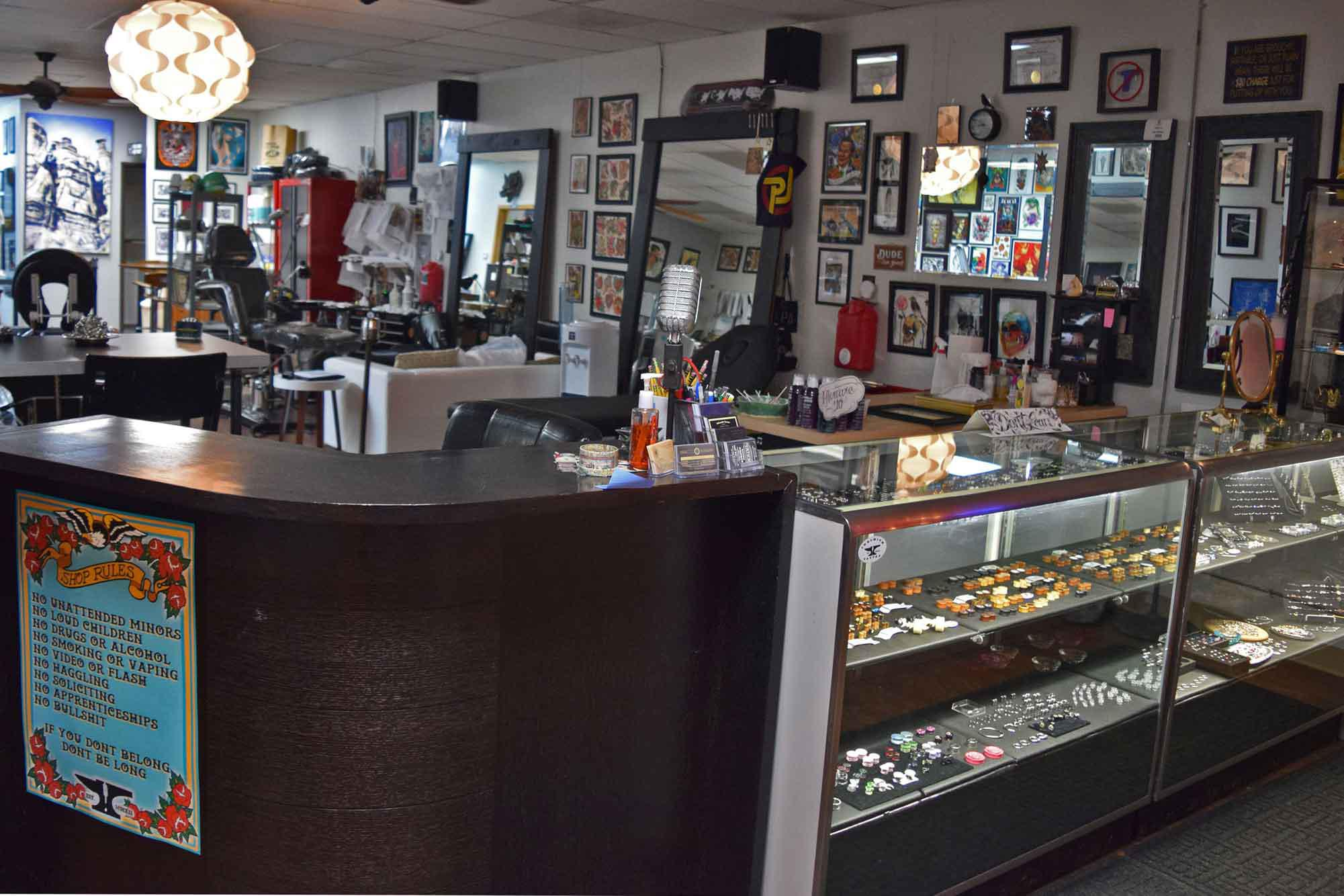Our tattoo and piercing shop