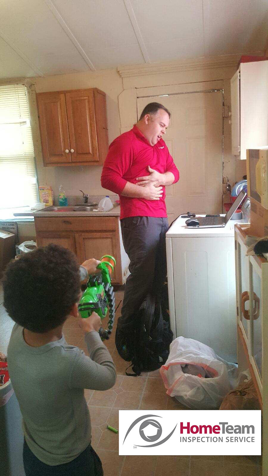 We have fun on the job! HomeTeam Inspection Service Louisville (502)785-8142