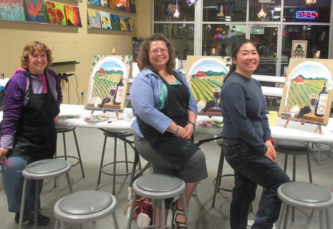 Painting with a twist in indianapolis in 46268 for Wine and paint indianapolis
