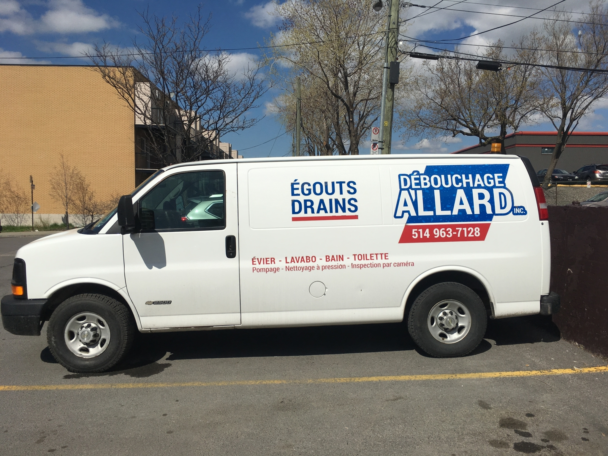 Débouchage Allard à Montréal