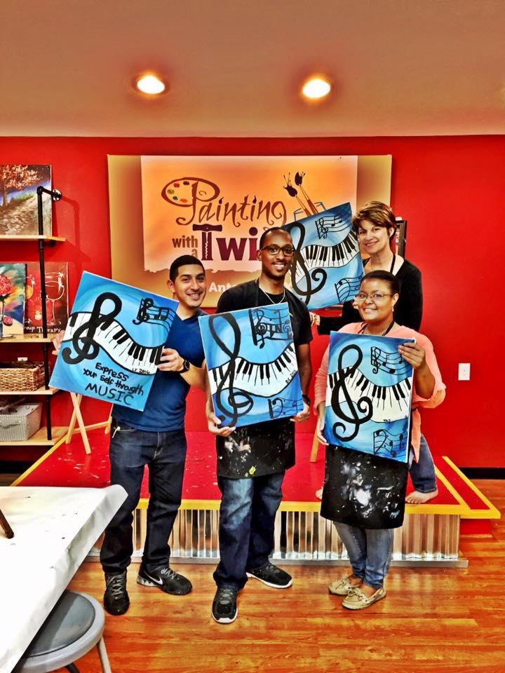 Painting With A Twist Private Party Pictures