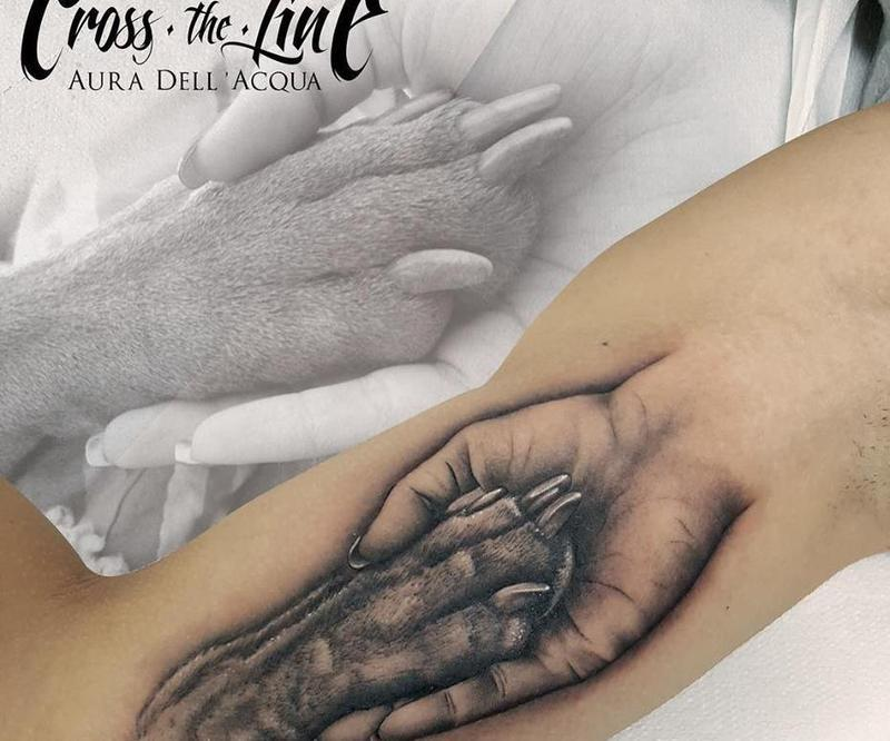 Cross The Line Tattoo