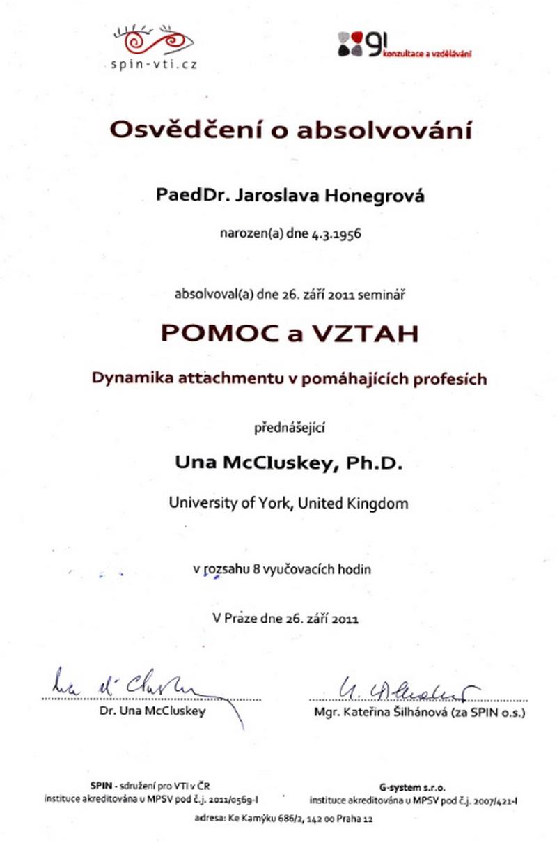 Honegrová Jaroslava PaedDr.