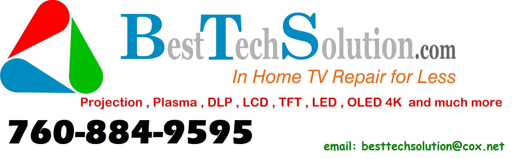 TV & Electronics Repair in CA Escondido 92026 Best Tech Solution 2052 Cherokee lane  (760)884-9565