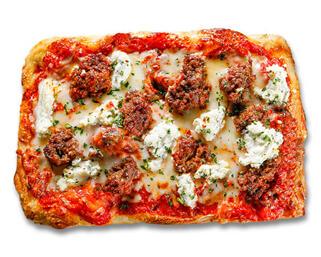 Meatball Ricotta Pizza made by P.ZA Kitchen.