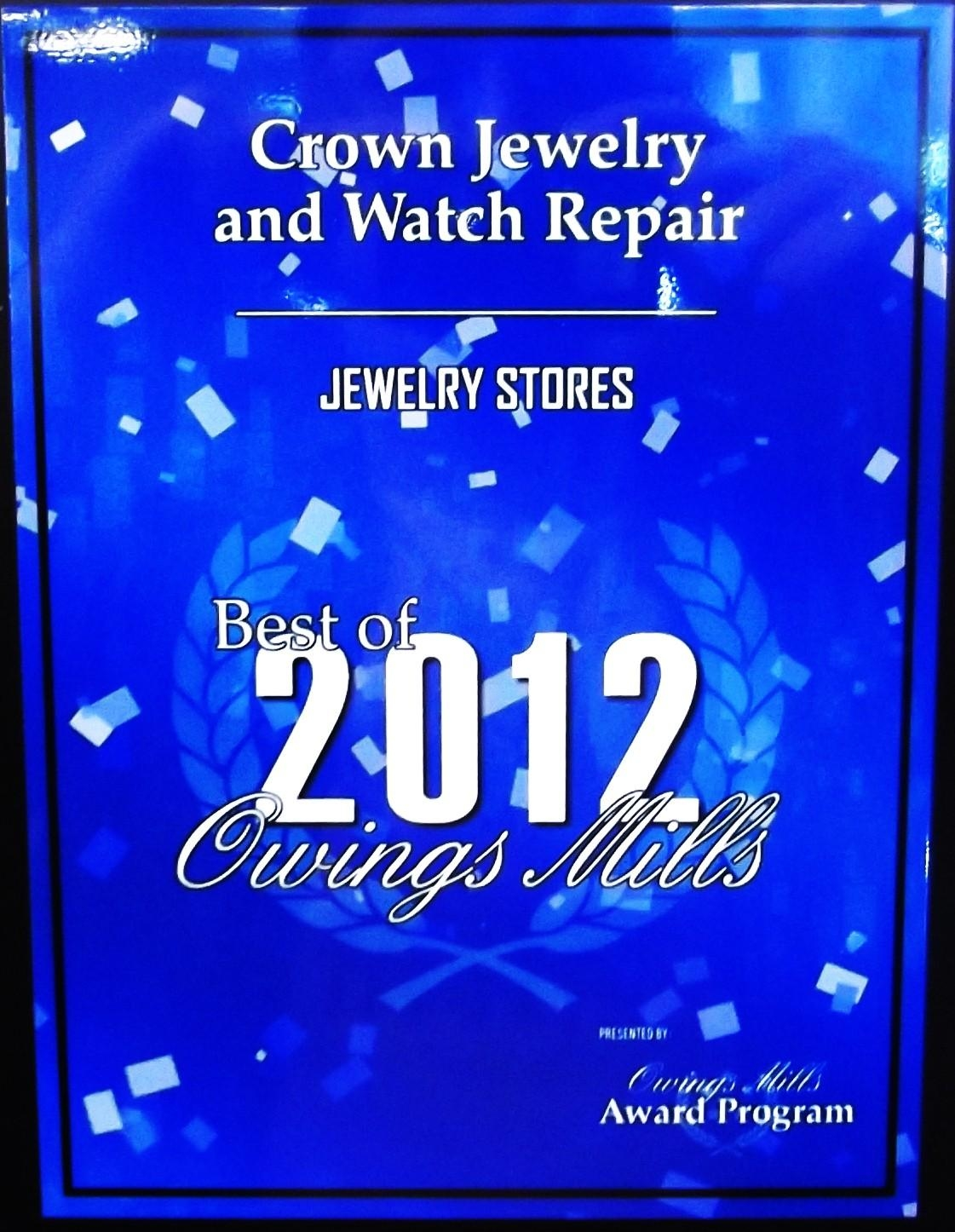 CROWN JEWELRY and WATCH REPAIRS