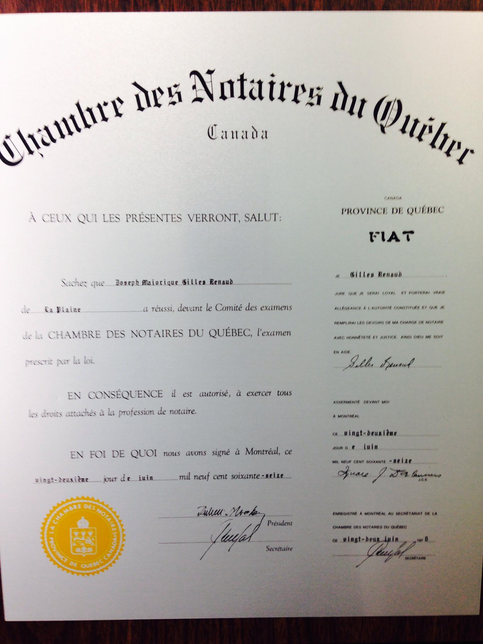 Notaire Gilles Renaud à Terrebonne