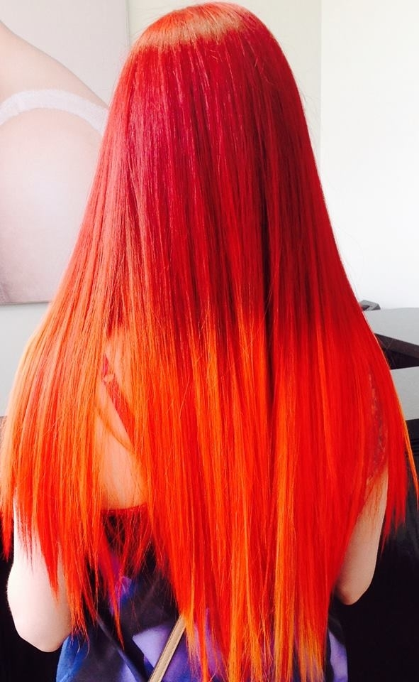 Wispers Hair & Day Spa in Cambridge: Fire Red Hair Colour