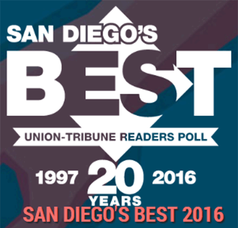 Voted #1 Caterer in San Diego!