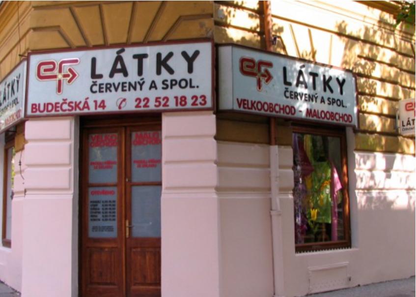 Látky ČERVENÝ a spol. - látky a bytový textil Praha 2