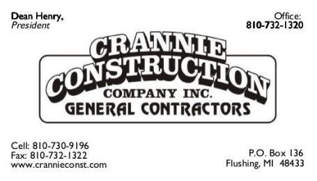Crannie Construction - Flushing, MI - General Contractors