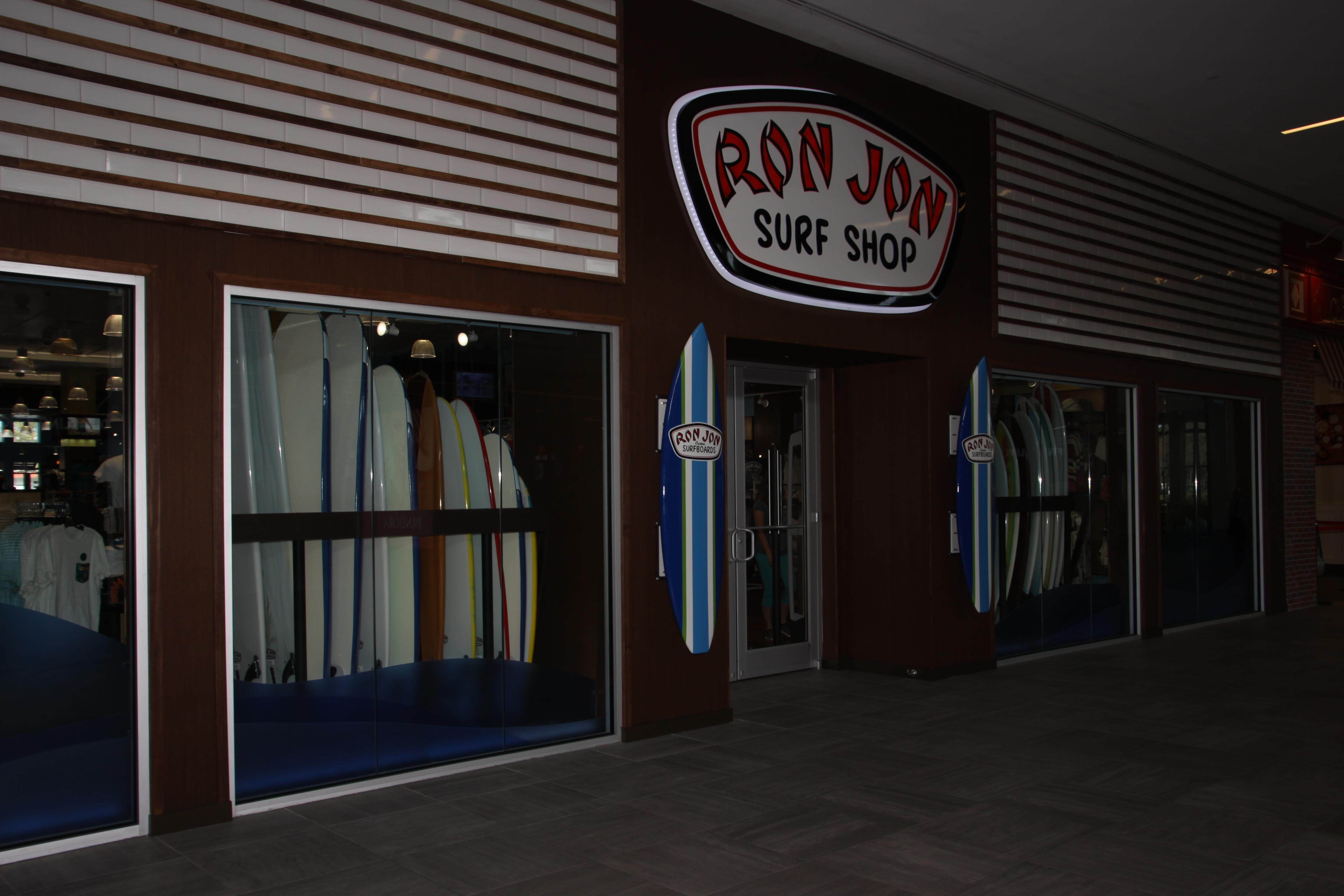 Ron Jon Surf Shop, the World's Most Famous® surf shop brings the beach to you! All the great names and assortments in swimwear, casual clothing, surfboards, skateboards and beach accessories you've come to expect from Ron Jon can be found at Ron Jon Surf Shop at The Florida Mall.