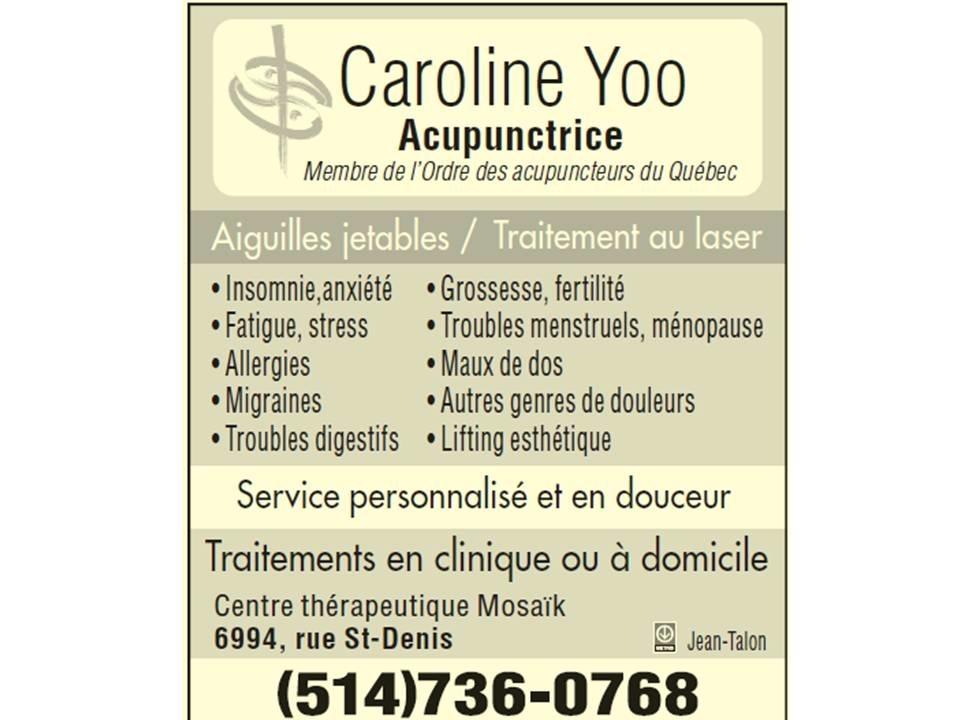Acupuncteure Caroline Yoo à Montréal