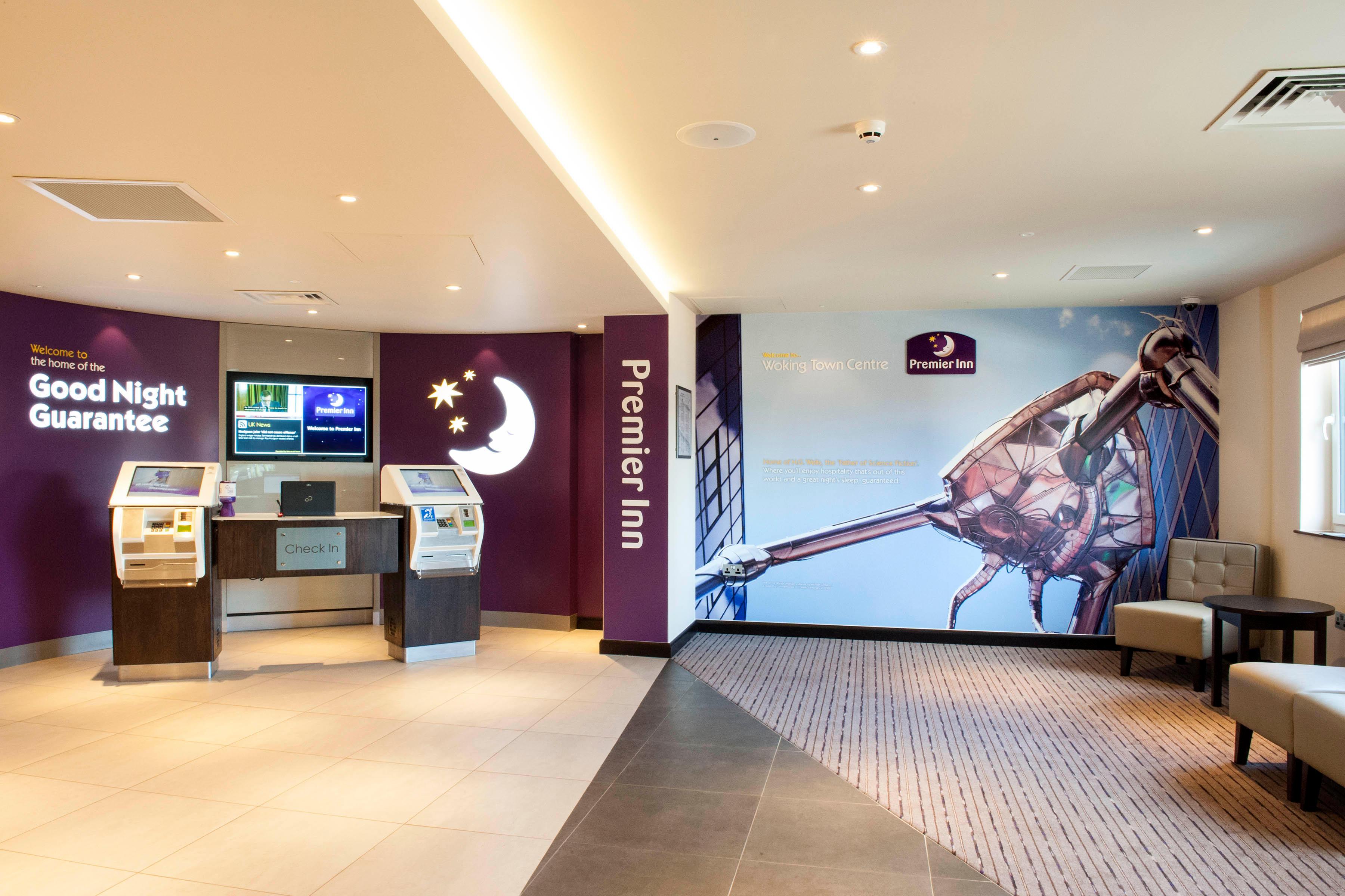 Premier Inn reception Premier Inn Woking Town Centre hotel Woking 03333 219329