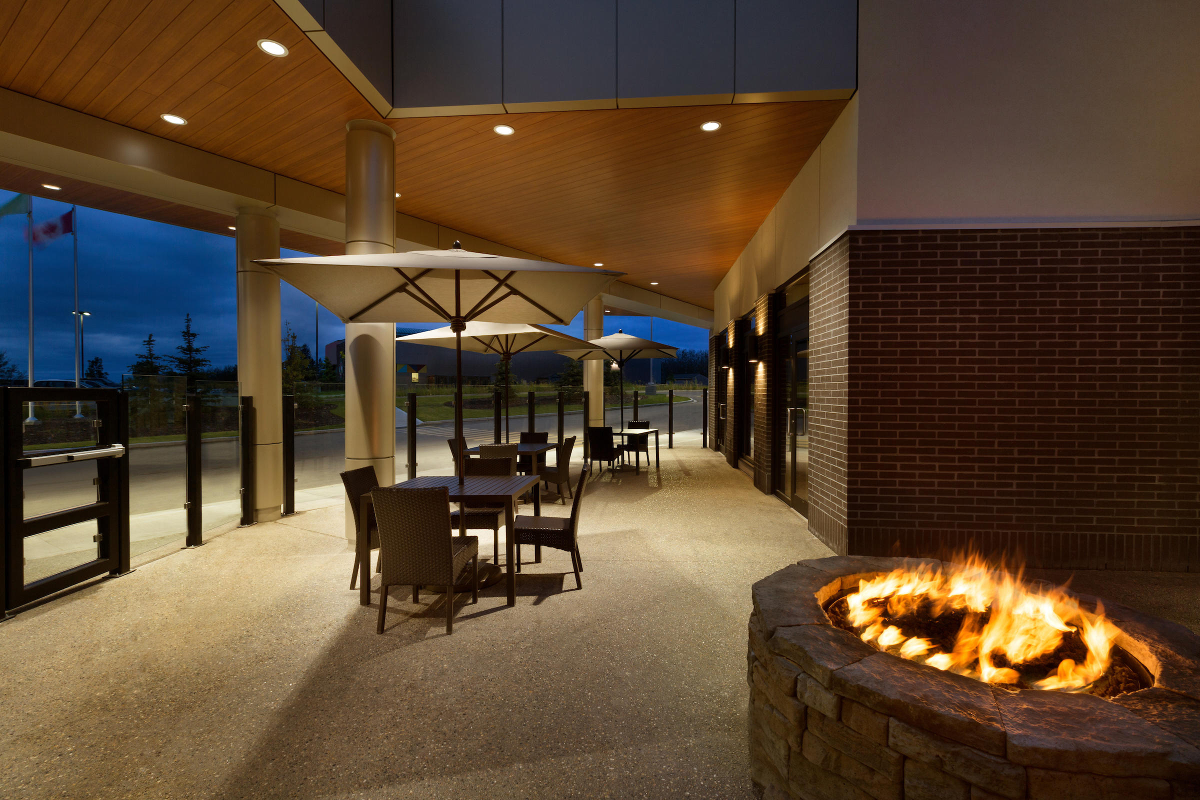 Outdoor Terrace and Fire Pit Courtyard by Marriott Cold Lake Cold Lake (780)594-0989