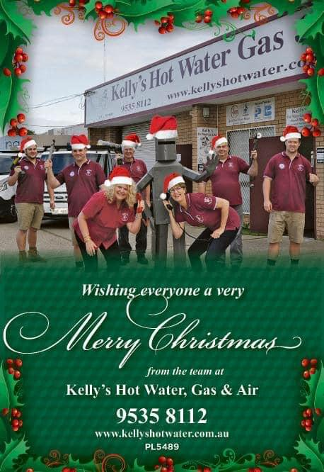 The Team at Kelly's would like to wish everyone a very merry Xmas Kelly's Hot Water, Gas & Air Mandurah (08) 9535 8112