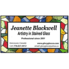 Jeanette Blackwell, Stained Glass Artisan