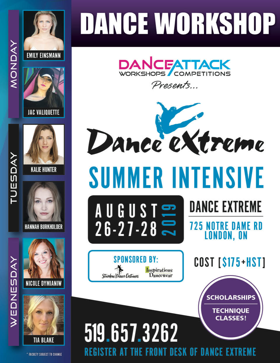 Dance Extreme Inc in London: Summer Intensive 3 Day Camp! Sign up today!