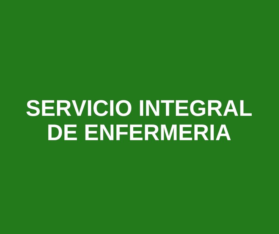 SERVICIO INTEGRAL DE ENFERMERIA