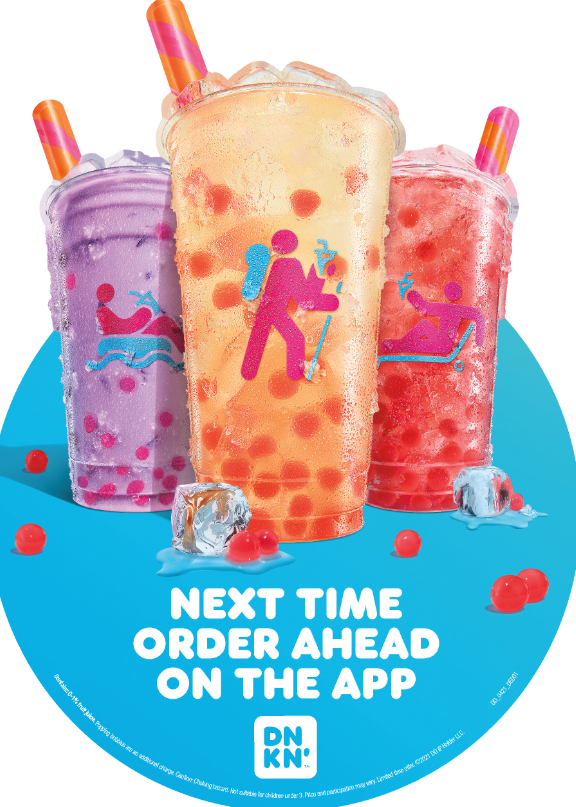 Dunkin' Strawberry Popping Bubbles Refreshers