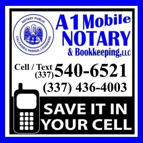 A1 MOBILE NOTARY & BOOKKEEPING LLC - Lake Charles, LA 70605 - (337)540-6521 | ShowMeLocal.com