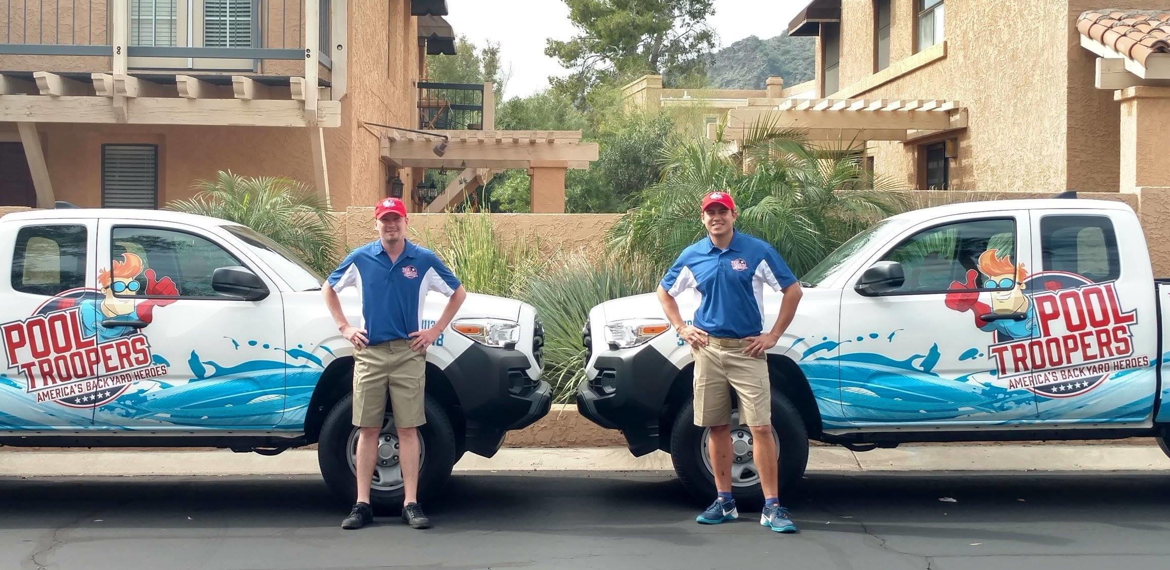 Pool Troopers Technicians by Service Truck