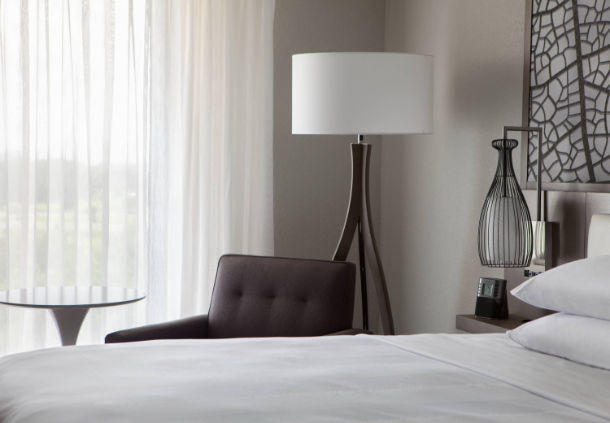 Make yourself at home with thoughtful hotel features including crisp linens and well-placed lighting.
