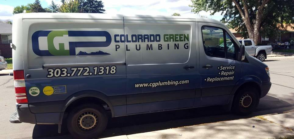 Colorado Green Plumbing Van in Brighton Colorado