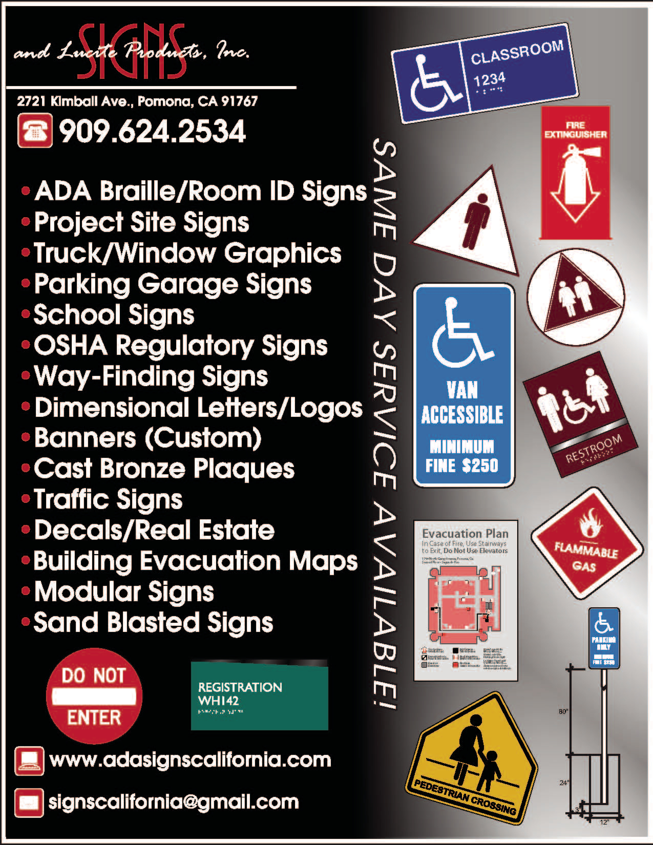 Signs & Lucite Products, Inc - ad image
